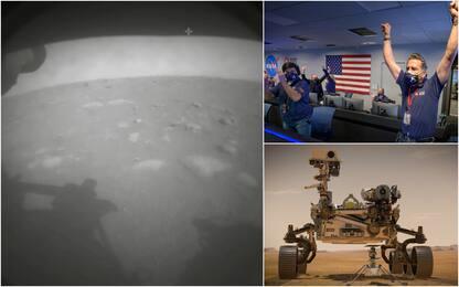 Perseverance è su Marte, l'atterraggio del rover della Nasa. FOTO