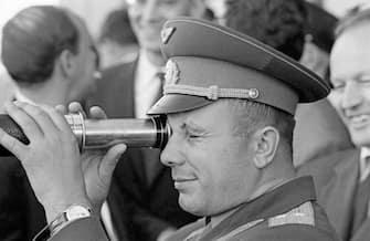 Portrait du cosmonaute russe Youri Gagarine . (Photo by Henri Bureau/Sygma/Corbis/VCG via Getty Images)
