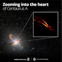 Spazio, fotografato buco nero nel cuore della galassia Centaurus A