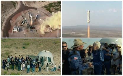 Bezos nello spazio, primo volo Blue Origin completato. FOTO