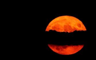 La luna nella Macedonia del Nord