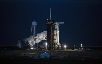 A SpaceX Falcon 9 rocket and Dragon spacecraft, carrying non-professional astronauts, launches from NASA's Kennedy Space Center launchpad 39A during the Inspiration4 mission in Merritt Island, Florida, U.S., on Wednesday, Sept. 15, 2021. A SpaceX rocket is set to launch four civilians into orbit for a three-day voyage circling the Earth, a new milestone in Elon Musk's quest to send everyday people to the cosmos, eventually establishing a colony on Mars. Photographer: Eva Marie Uzcategui/Bloomberg