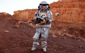 """""""Astronauta"""" durante la simulazione di una missione su Marte, in Israele"""