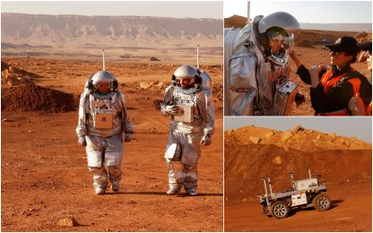 Marte? No, il deserto del Negev. La simulazione in Israele. FOTO