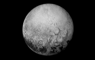 IN SPACE - JULY 11:  In this handout provided by the National Aeronautics and Space Administration (NASA), the dwarf planet Pluto is shown at distance of about 2.5 million miles July 11, 2015. NASA's New Horizons spacecraft is nearing its July 14 flyby when it will close to a distance of about 7,800 miles (12,500 kilometers). The 1,050-pound piano sized probe, which was launched January 19, 2006 aboard an Atlas V rocket from Cape Canaveral, Florida, is traveling 30,800 mph as it approaches.  (Photo by NASA/JHUAPL/SWRI via Getty Images)