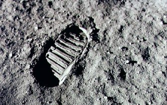376713 01: Neil Armstrong steps into history July 20, 1969 by leaving the first human footprint on the surface of the moon. The 30th anniversary of the Apollo 11 landing on the moon is being commemorated on July 20, 1999. (Photo by NASA/Newsmakers)
