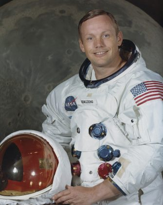 Astronaut Neil Armstrong, Commander of NASA's Apollo 11 lunar landing mission, photographed at the Manned Spacecraft Center (MSC) in Houston, Texas, July 1969. (Photo by Space Frontiers/Getty Images)