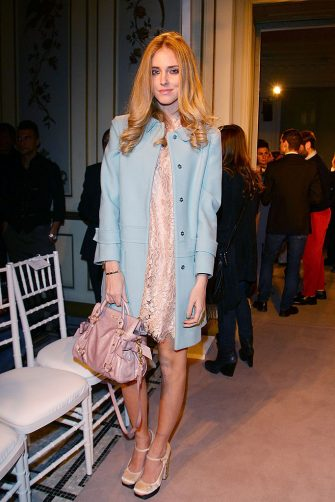 MILAN, ITALY - JANUARY 13:  Chiara Ferragni attends the Alberta Ferretti Special Event during the Milan Fashion Week Autumn / Winter 2012 on January 13, 2012 in Milan, Italy.  (Photo by Vittorio Zunino Celotto/Getty Images)