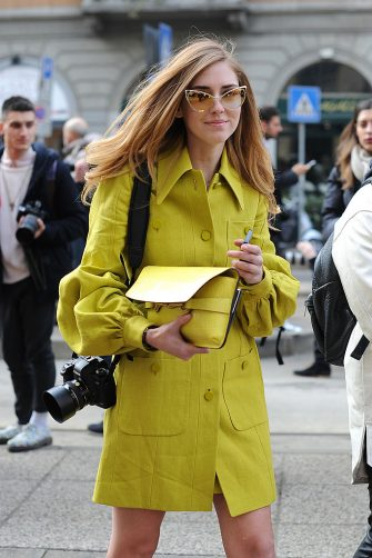 MILAN, ITALY - FEBRUARY 20: Chiara Ferragni arrives at  the Gucci show during Milan Fashion Week Womenswear Fall/Winter 2013/14 on February 20,  2013 in Milan, Italy.  (Photo by Jacopo Raule/Getty Images)