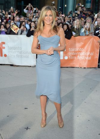"TORONTO, ON - SEPTEMBER 14:  Actress/producer Jennifer Aniston arrives at the ""Life Of Crime"" Premiere during the 2013 Toronto International Film Festival at Roy Thomson Hall on September 14, 2013 in Toronto, Canada.  (Photo by George Pimentel/WireImage)"
