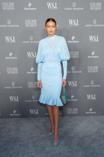 NEW YORK, NEW YORK - NOVEMBER 06: Gigi Hadid attends the WSJ Mag 2019 Innovator Awards at The Museum of Modern Art on November 06, 2019 in New York City. (Photo by Mark Sagliocco/WireImage)