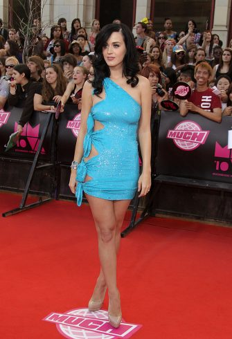 TORONTO, ON - JUNE 20:  Singer Katy Perry arrives on the red carpet of the 21th Annual MuchMusic Video Awards at the MuchMusic HQ on June 20, 2010 in Toronto, Canada.  (Photo by George Pimentel/WireImage)