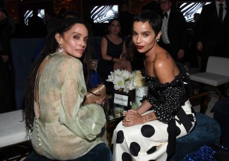 BEVERLY HILLS, CALIFORNIA - JANUARY 05: (L-R) Lisa Bonet and Zoë Kravitz attend The 2020 InStyle And Warner Bros. 77th Annual Golden Globe Awards Post-Party at The Beverly Hilton Hotel on January 05, 2020 in Beverly Hills, California. (Photo by Kevin Mazur/Getty Images for InStyle)