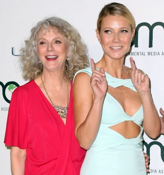 BURBANK, CA - OCTOBER 24: Actresses Blythe Danner (L) and Gwyneth Paltrow attend the 25th annual EMA Awards presented by Toyota and Lexus and hosted by the Environmental Media Association at Warner Bros. Studios on October 24, 2015 in Burbank, California.  (Photo by Frederick M. Brown/Getty Images)