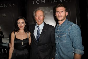 LOS ANGELES, CA - SEPTEMBER 08:  (L-R) Actress/model Francesca Eastwood, director/actor/producer Clint Eastwood, and actor/model Scott Eastwood attend the screening of Warner Bros. Pictures' 'Sully' at Directors Guild Of America on September 8, 2016 in Los Angeles, California.  (Photo by Emma McIntyre/Getty Images)