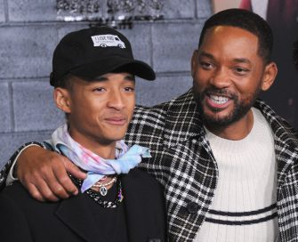 """HOLLYWOOD, CA - JANUARY 14: Jaden Smith and Will Smith arrive for the Premiere Of Columbia Pictures' """"Bad Boys For Life"""" held at TCL Chinese Theatre on January 14, 2020 in Hollywood, California.  (Photo by Albert L. Ortega/Getty Images)"""