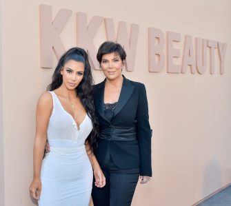 LOS ANGELES, CA - JUNE 30:  Kim Kardashian West (L) and Kris Jenner attend KKW Beauty Fan Event at KKW Beauty on June 30, 2018 in Los Angeles, California.  (Photo by Stefanie Keenan/Getty Images for ABA)
