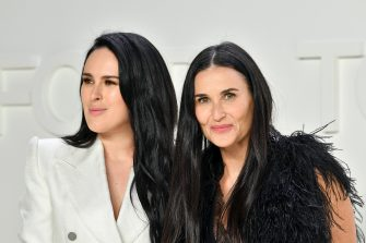 HOLLYWOOD, CALIFORNIA - FEBRUARY 07: (L-R) Rumer Willis and Demi Moore attend the Tom Ford AW20 Show at Milk Studios on February 07, 2020 in Hollywood, California. (Photo by Amy Sussman/Getty Images)