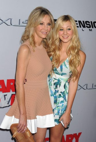 HOLLYWOOD, CA - APRIL 11: Actresses Heather Locklear and Ava Sambora arrive at the 'Scary Movie V' Los Angeles premiere at ArcLight Cinemas Cinerama Dome on April 11, 2013 in Hollywood, California. (Photo by Jeffrey Mayer/WireImage)