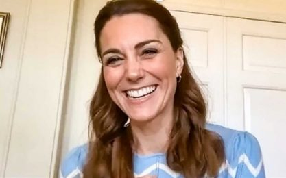 Kate Middleton, capelli sempre perfetti anche in smart working