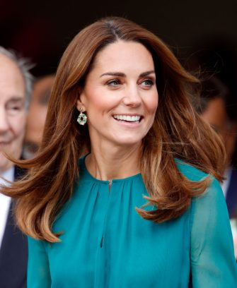 LONDON, UNITED KINGDOM - OCTOBER 02: (EMBARGOED FOR PUBLICATION IN UK NEWSPAPERS UNTIL 24 HOURS AFTER CREATE DATE AND TIME) Catherine, Duchess of Cambridge visits the Aga Khan Centre on October 2, 2019 in London, England. The visit is ahead of her and Prince William's Royal Tour to Pakistan. (Photo by Max Mumby/Indigo/Getty Images)