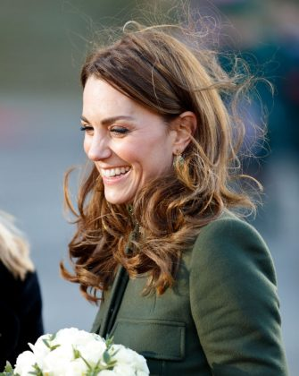 BRADFORD, UNITED KINGDOM - JANUARY 15: (EMBARGOED FOR PUBLICATION IN UK NEWSPAPERS UNTIL 24 HOURS AFTER CREATE DATE AND TIME) Catherine, Duchess of Cambridge visits City Hall in Bradford's Centenary Square on January 15, 2020 in Bradford, England. (Photo by Max Mumby/Indigo/Getty Images)
