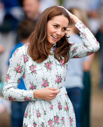 """WOKING, UNITED KINGDOM - SEPTEMBER 10: (EMBARGOED FOR PUBLICATION IN UK NEWSPAPERS UNTIL 24 HOURS AFTER CREATE DATE AND TIME) Catherine, Duchess of Cambridge attends the """"Back to Nature"""" festival at RHS Garden Wisley on September 10, 2019 in Woking, England. (Photo by Max Mumby/Indigo/Getty Images)"""