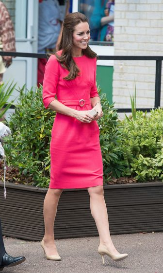 LONDON, ENGLAND - JULY 01:  Catherine, Duchess of Cambridge (hair detail) as she visits an M-PACT Plus Counselling programme at Blessed Sacrament School on July 1, 2014 in London, England.  (Photo by Samir Hussein/WireImage)