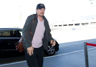 LOS ANGELES, CA - FEBRUARY 26:  Liam Neeson is seen at Los Angeles International Airport on February 26, 2013 in Los Angeles, California.  (Photo by GVK/Bauer-Griffin/GC Images)