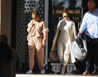 LOS ANGELES, CA - DECEMBER 20: Jennifer Lopez and Leah Remini are seen on December 20, 2018 in Los Angeles, California.  (Photo by BG002/Bauer-Griffin/GC Images)