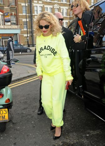 LONDON, UNITED KINGDOM - FEBRUARY 15: Rita Ora is seen arriving at a tattoo studio on February 15, 2013 in London, United Kingdom.  (Photo by ANT/Bauer-Griffin/GC Images)