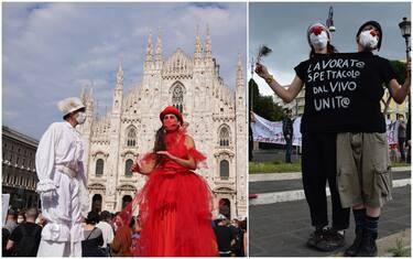 protesta lavoratori spettacolo coronavirus