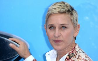 """LONDON, ENGLAND - JULY 10:  Ellen DeGeneres attends the UK Premiere of """"Finding Dory"""" at Odeon Leicester Square on July 10, 2016 in London, England.  (Photo by Anthony Harvey/Getty Images)"""