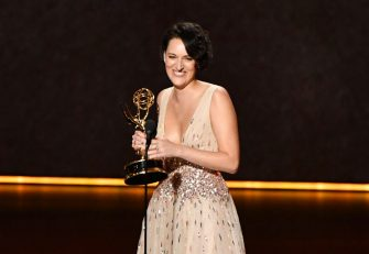 LOS ANGELES, CALIFORNIA - SEPTEMBER 22: Phoebe Waller-Bridge accepts the Outstanding Writing for a Comedy Series award for 'Fleabag' onstage during the 71st Emmy Awards at Microsoft Theater on September 22, 2019 in Los Angeles, California. (Photo by Amy Sussman/WireImage)