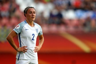 UTRECHT, NETHERLANDS - JULY 19: Lucia Bronze of England during the UEFA Women's Euro 2017 Group D match between England and Scotland at Stadion Galgenwaard on July 19, 2017 in Utrecht, Netherlands. (Photo by Dean Mouhtaropoulos/Getty Images)