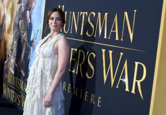 """WESTWOOD, CALIFORNIA - APRIL 11:  Actress Emily Blunt attends the premiere of Universal Pictures' """"The Huntsman: Winter's War""""  at the Regency Village Theatre on April 11, 2016 in Westwood, California.  (Photo by Kevin Winter/Getty Images)"""