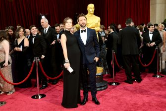 HOLLYWOOD, CA - MARCH 02:  Actors Olivia Wilde (L) and Jason Sudeikis attend the Oscars held at Hollywood & Highland Center on March 2, 2014 in Hollywood, California.  (Photo by Ethan Miller/WireImage)