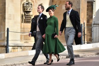 WINDSOR, ENGLAND - OCTOBER 12:  Pippa Middleton attends the wedding of Princess Eugenie of York to Jack Brooksbank at St. George's Chapel on October 12, 2018 in Windsor, England. (Photo by  (Photo by Mark Large - WPA Pool/Getty Images)