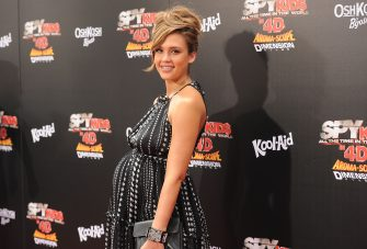 LOS ANGELES, CA - JULY 31:  Actress Jessica Alba arrives at 'Spy Kids: All The Time In The World 4D' Los Angeles premiere at the Regal Cinemas L.A. Live on July 31, 2011 in Los Angeles, California.  (Photo by Jason Merritt/Getty Images)