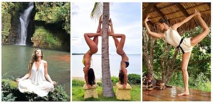 International yoga day, i vip su Instagram. LE FOTO