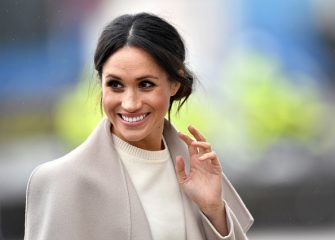 BELFAST, UNITED KINGDOM - MARCH 23:  Meghan Markle is seen ahead of her visit with Prince Harry to the iconic Titanic Belfast during their trip to Northern Ireland on March 23, 2018 in Belfast, Northern Ireland, United Kingdom.  (Photo by Charles McQuillan/Getty Images)
