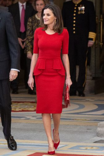 MADRID, SPAIN - JANUARY 10: Queen Letizia of Spain attends the National Sports Awards 2017 at the El Pardo Palace on January 10, 2019 in Madrid, Spain. (Photo by Paolo Blocco/WireImage)
