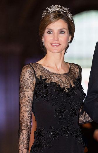 AMSTERDAM, NETHERLANDS - APRIL 29:  Princess Letizia of Spain attends a dinner hosted by Queen Beatrix of The Netherlands ahead of her abdication in favour of Crown Prince Willem Alexander at Rijksmuseum on April 29, 2013 in Amsterdam, Netherlands.  (Photo by Michel Porro/WireImage)