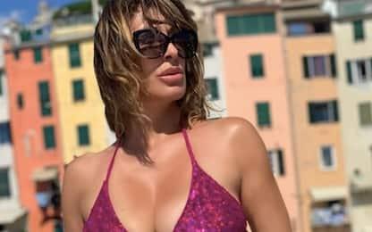 Sabrina Salerno, lo scatto in costume in Liguria