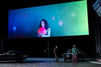 Rappresentazione dell opera  Rigoletto  di Giuseppe Verdi, diretta dal Maestro Daniele Gatti, in occasione della serata inaugurale della stagione estiva del Teatro dell Opera di Roma al Circo Massimo, 16 luglio 2020.  ANSA/Yasuko Kageyama - Uff. stampa Teatro dell'Opera di Roma