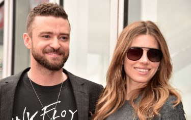 HOLLYWOOD, CA - APRIL 30:  Actress Jessica Biel and singer Justin Timberlake, as part of 'NSYNC is honored with a star on the Hollywood Walk of Fame on April 30, 2018 in Hollywood, California.  (Photo by Alberto E. Rodriguez/Getty Images)