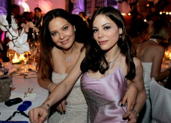 FRANKFURT, GERMANY - FEBRUARY 24:  Italian actress Ornella Muti (L) and her daughter Naike Rivelli attend the Deutscher Opera Ball 2007 on February 24, 2007 in Frankfurt, Germany.  (Photo by Ralph Orlowski/Getty Images)