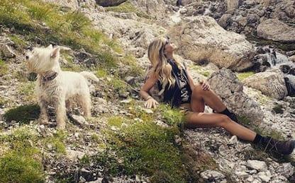 Alessia Marcuzzi ed Elena Santarelli in vacanza insieme sulle Dolomiti