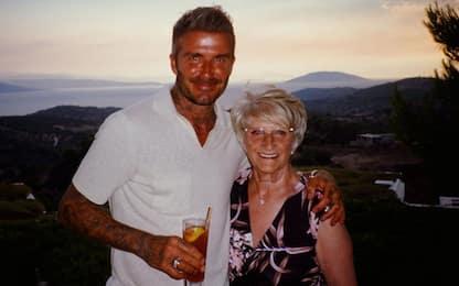 David Beckham in vacanza in Grecia con la mamma
