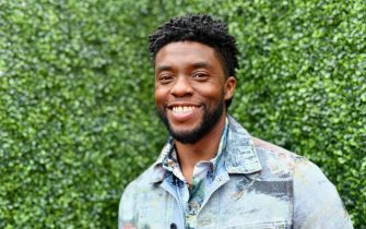 SANTA MONICA, CA - JUNE 16: (EDITORS NOTE: Image has been converted to black and white.)  Actor Chadwick Boseman attends the 2018 MTV Movie And TV Awards at Barker Hangar on June 16, 2018 in Santa Monica, California.  (Photo by Emma McIntyre/Getty Images for MTV)